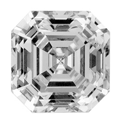 Picture of 0.71 Carats, Asscher Diamond with Ideal Cut, F Color, VVS2 Clarity and Certified by GIA
