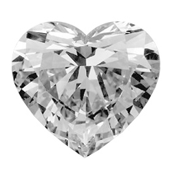 Picture of 0.80 Carats, Heart Diamond with Very Good Cut, G Color, VVS2 Clarity and Certified by GIA