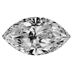 Picture of 0.79 Carats, Marquise Diamond with Very Good Cut, D Color, SI2 Clarity and Certified by GIA