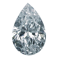Picture of 0.33 Carats, Pear Diamond with Good Cut, F Color, SI2 Clarity and Certified By CGL
