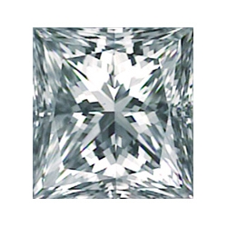 Picture of 0.38 Carats, Princess Diamond with Good Cut, E Color, VS2 Clarity and Certified By Diamonds-USA