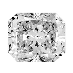 Picture of 2.40 Carats, Radiant Diamond with Ideal Cut, I Color, VS2 Clarity and Certified by EGS/EGL