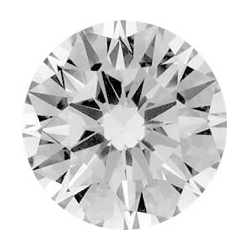 Picture of 0.20  carats, Round Diamond with Ideal Cut, F, SI1 C.E, and Certified By EGS/EGL