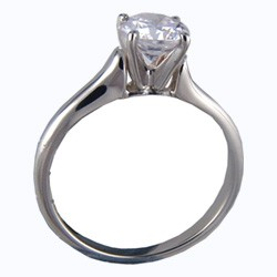 Contour style solitaire engagement ring