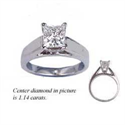 Picture of Heavy Cathedral solitaire engagement ring