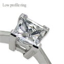 Picture of Low profile solitaire engagement ring settings