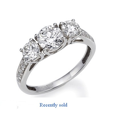 3 stone diamond ring settings with side diamonds