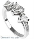 Picture of Three Heart Shaped ring