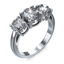 Picture of Round cut three stone engagement ring