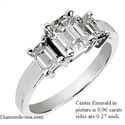 Picture of Three rectangular diamonds ring