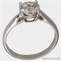 Picture of 1 carat look, diamond Engagement ring