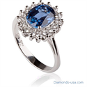 Picture of Kate Middleton Sapphire engagement ring
