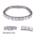 Picture of 2.10 Cts F VS, diamonds tennis bracelet.