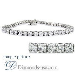 9.5 carat diamond Tennis Bracelet