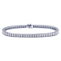 Picture of Princess diamonds Tennis Bracelet, 6.60 carats