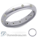 Picture of 0.5O carats diamond wedding ring, 3.7mm.