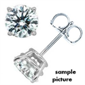Picture of Men Round diamond earring stud-settings