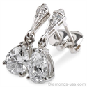 Picture of Stud and drop Pear shape diamond earrings