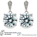 Picture of Stud and drop Round diamond earrings-settings