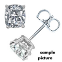 Picture of Cushion cut diamond stud earrings
