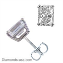 Picture of Radiant cut diamond stud earrings