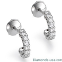 Picture of Diamond hoop earrings, 0.50 carats.
