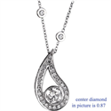 Picture of Drop pendant with surrounding diamonds