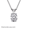 Picture of Solitaire Pendant for Cushions & Oval diamonds