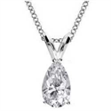 Picture of Solitaire Pendant for Pear shaped diamonds