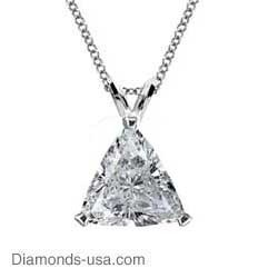 Triangle Diamonds, solitaire pendant-Settings.