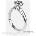 Picture of Martini prongs head diamond engagement ring