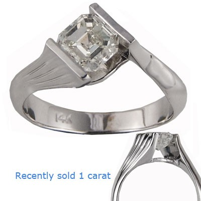 Solid Tension engagement ring
