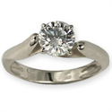 Picture of Solitaire diamond engagement Ring