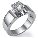 Picture of wide solitaire engagement ring