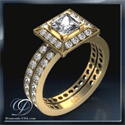 Picture of 0.84 carat designers bridal ring sets