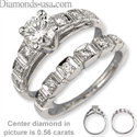 Picture of Bridal ring sets with round side diamonds
