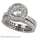 Picture of Bridal rings set with side round diamonds