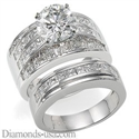 Picture of Bridal rings set,2.60 carat side princess diamonds