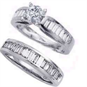 Picture of Bridal set, 2 carats baguette diamonds