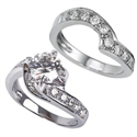 Picture of Designers Bridal set 1 carat side diamonds