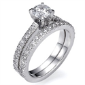 Picture of Diamonds bridal set, 1/2 carat side diamonds