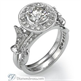 Picture of Victorian style bridal rings set, 0.6 carats stones