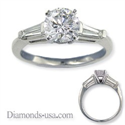 Picture of Two side tapered Baguettes diamond ring