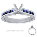 Picture of Engagement ring with Royal blue Sapphires