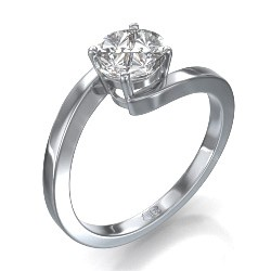 1 carat look embracing engagement ring