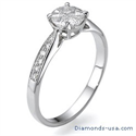 Picture of 1 carat look engagement ring with side diamonds