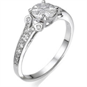 Picture of 1 carat look in engagement ring