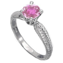Picture of 1 carat Pink Sapphire Ceylon, eye clean