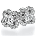 Picture of 0.55 carat diamonds Club earring
