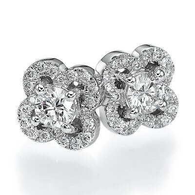 0.55 carat diamonds Club earring